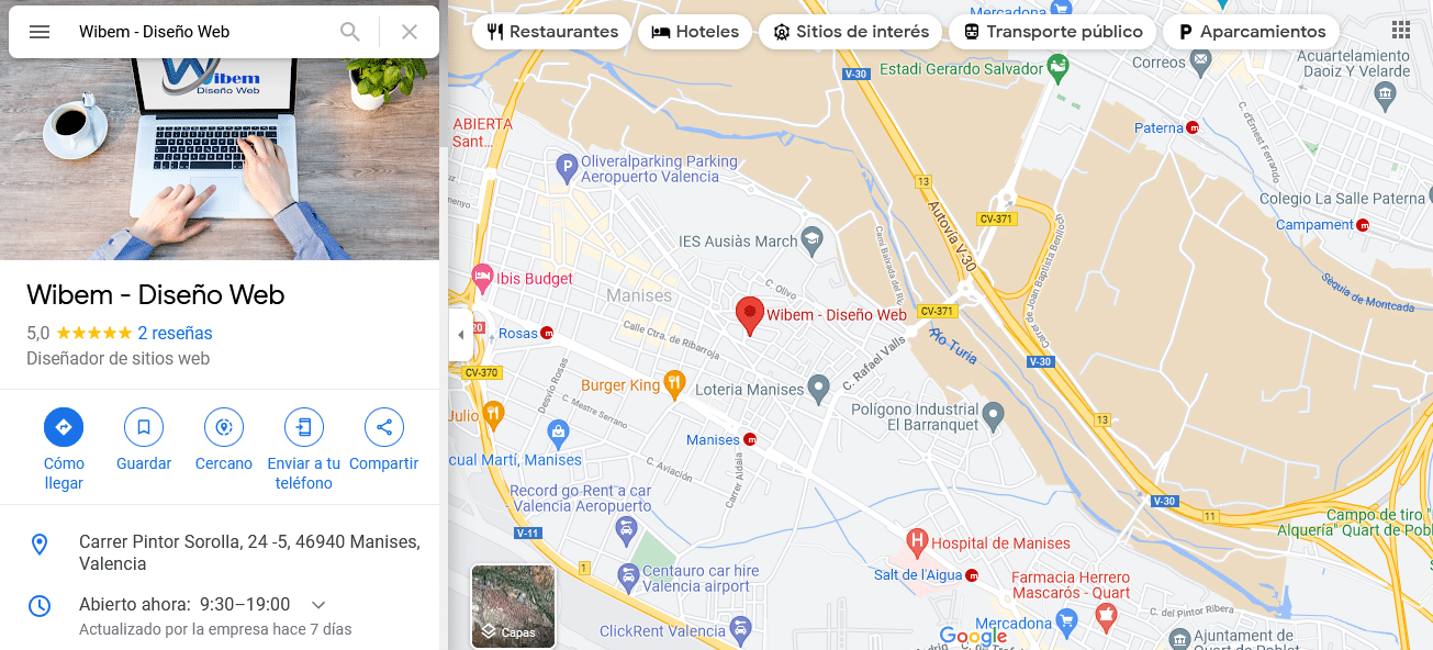 Diseño Web Manises - Valencia - Google Maps